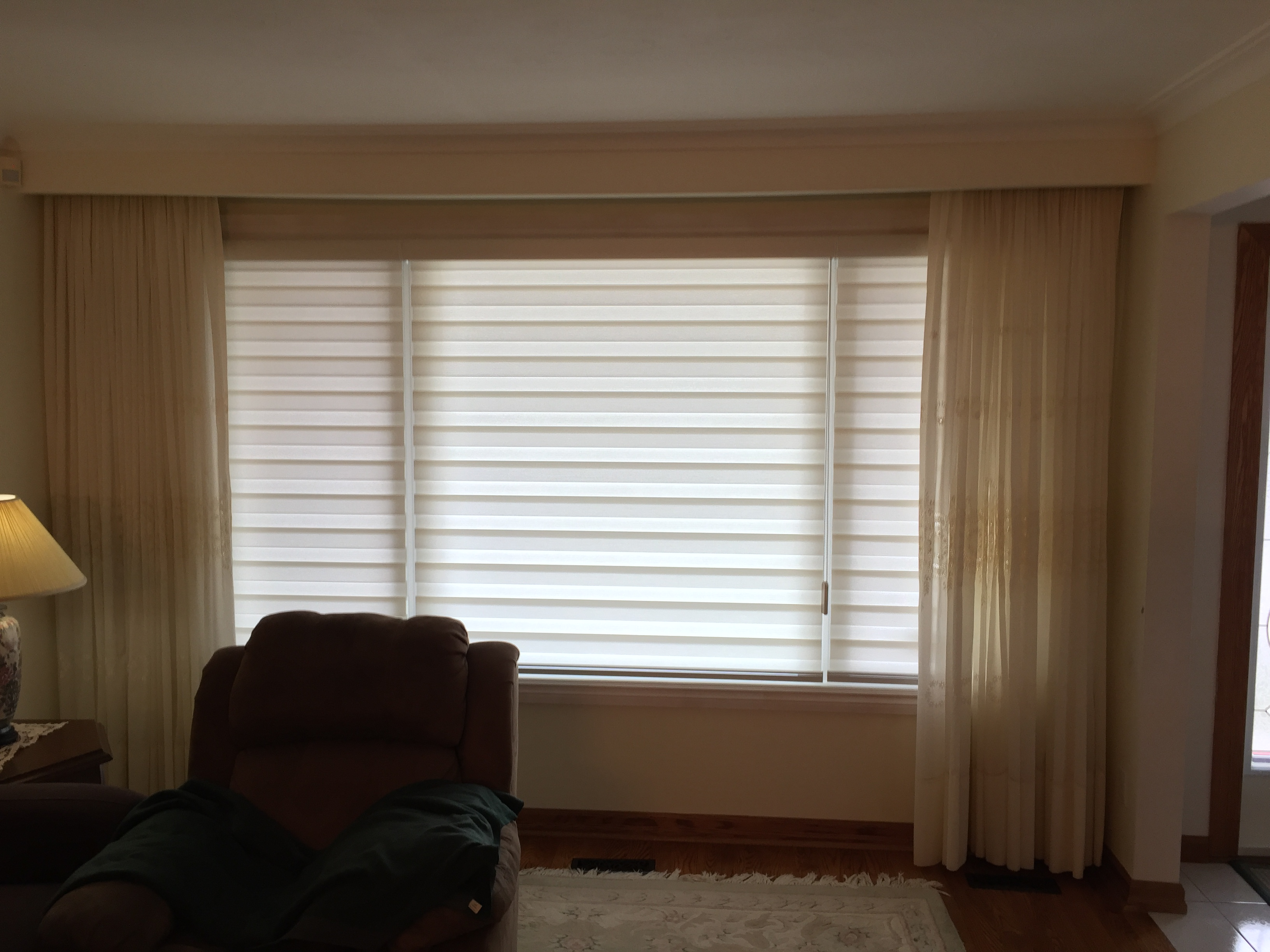 maxxmar kitchen treatments dual alternative hilite window shade of custom shades blinds banded mandalay a home